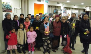 """Bnei Menashe women at Raise Your Spirits Theatre performance of """"Sisters!"""""""