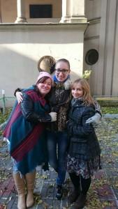 Eliza with friends in Krakow