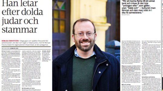 Shavei Israel in Kyrkpressen Finnish newspaper